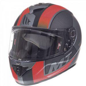 MT Rapide Overtake Helmet - Matt Black/Red colour