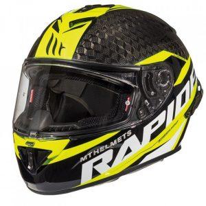 MT Rapide Pro Carbon Helmet - Gloss Fluorescent Yellow colour