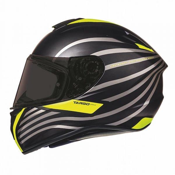 MT Targo Doppler Helmet - Fluorescent Yellow/Matt Black colour, London