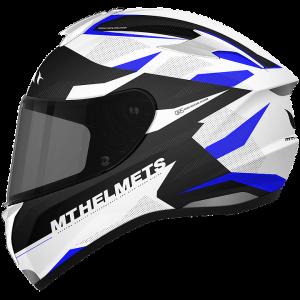 MT Targo Enjoy Helmet - Gloss Pearl Blue colour, MCS