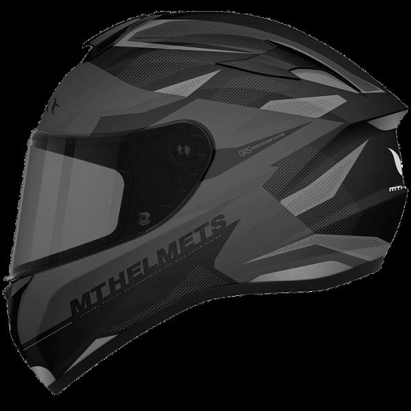 MT Targo Enjoy Helmet - Matt Black/Gray colour, CMG Shop, Chelsea