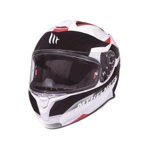 MT Targo Enjoy helmet - White/Black/Red colour, CMG, UK