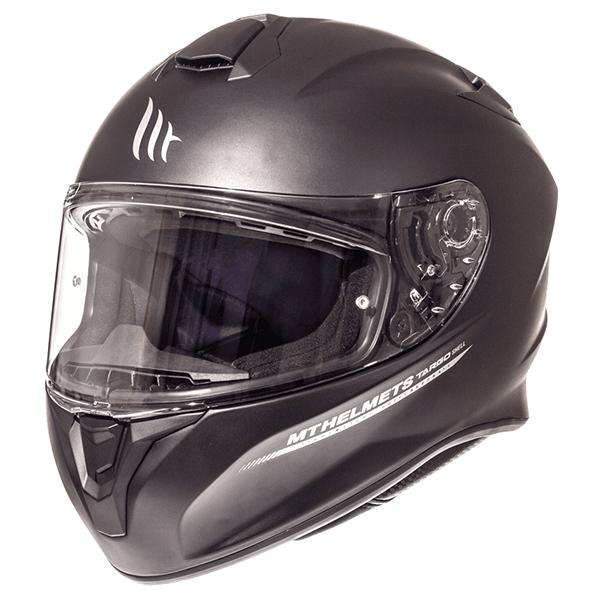 MT Targo Helmet - Solid Mat Black colour, MCS, Chelsea