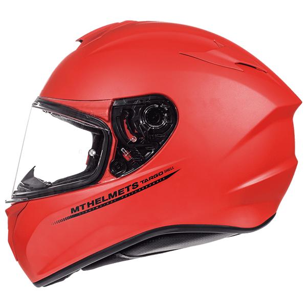 MT Targo Helmet - Solid Matt Red colour