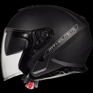 MT Thunder 3 SV Jet helmet - Solid Matt Black colour, Chelsea Motorcycle Group, London