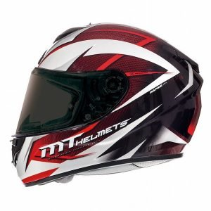 MT Rapide Crucial Helmet - White/Red colour