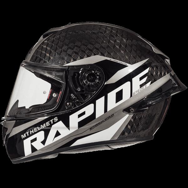 MT Rapide Pro Carbon Helmet - Gloss Grey, Motorbike Clothing Shop