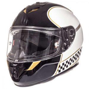 MT Rapide Revival Helmet - Pearl White/Gold colour