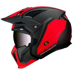MT Streetfighter Darkness Helmet 2021 - Matt Black/Red colour, London