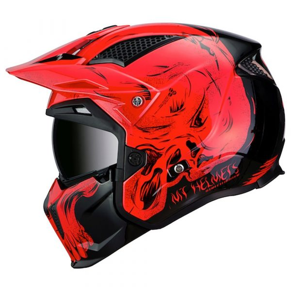 MT Streetfighter Darkness Helmet 2021 - Black/Red colour