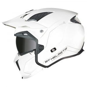 MT Streetfighter Helmet - Pearl White colour, Motorbike Clothing Shop