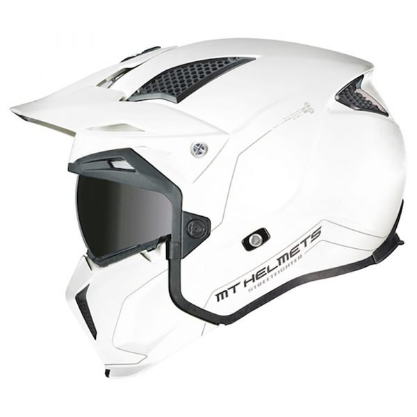 MT Streetfighter Helmet - Pearl White colour, Motorbike Clothing Shop