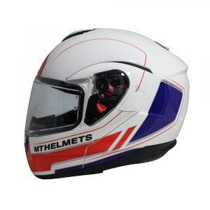 MT Atom Divergence Helmet - Raceline Evo White/Red/Blue colour, Chelsea