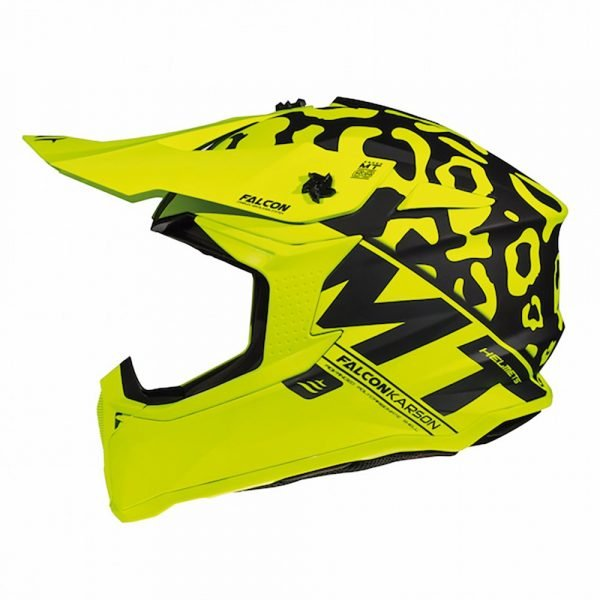 MT Falcon Karson Helmet - Matt Fluo Yellow colour
