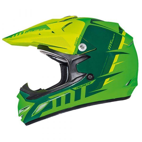 MT MX2 Spec (Kids) Helmet - Fluo Green and Yellow colour