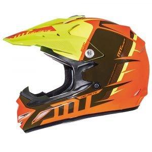 MT MX2 Spec (Kids) Helmet - Fluo Orange and Yellow, Chelsea, London