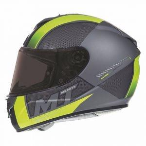 MT Rapide Overtake Helmet - Matt Black/Fluo Yellow, Chelsea Motorcycles Clothing Shop, UK