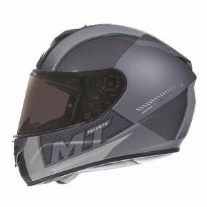 MT Rapide Overtake Helmet - Matt Black/White colour
