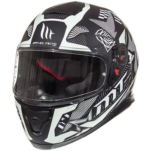 MT Thunder 3 Ray Helmet - Matt Black/Silver colour, CMG Shop, Chelsea, London, UK