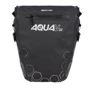 Oxford Aqua V 32 Double Pannier Bag - Black colour, CMG Shop, London