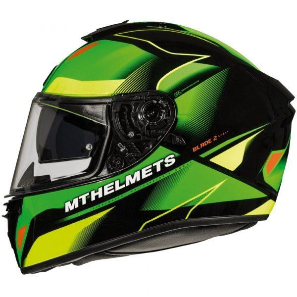 MT Blade 2 Fugue Helmet - Fluo Green/Fluo Yellow colour, Chelsea, London, UK