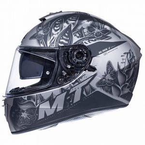 MT Blade 2 Helmet 2021 - Matt Black/Grey colour, Chelsea, London