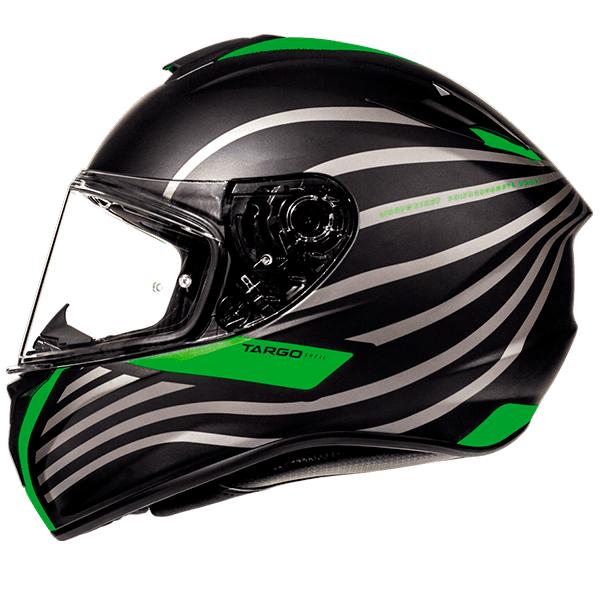 MT Targo Doppler Helmet - Matt Black/Green