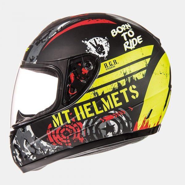 MT Thunder Sniper Kids Helmet - Matt Black/Fluo Yellow colour