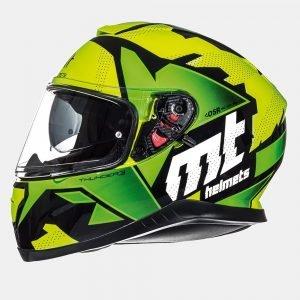 MT Thunder Torn Kids Helmet - Fluo Yellow/Green colour, London