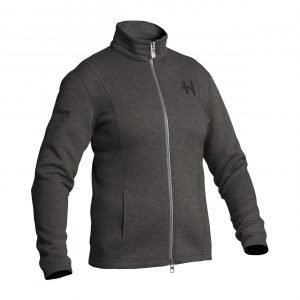 Halvarssons Djura Woman Fleece Jacket - Dark Grey colour, Motorbike Clothing Shop