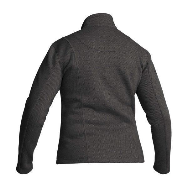 Halvarssons Djura Woman Fleece Jacket - Dark Grey colour, back view