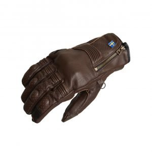 Halvarssons Hofors Gloves - Brown colour, Chelsea Motorcycles Group