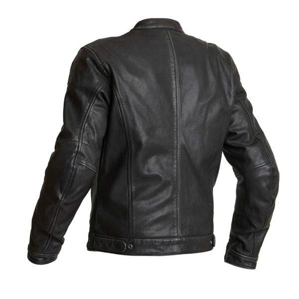 Halvarssons Idre Leather Jacket - Black colour, back, Chelsea Motorcycles Group, UK