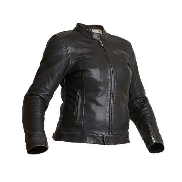 Halvarssons Orsa Woman Leather Jacket - Black colour, Motorcycles Clothing Shop