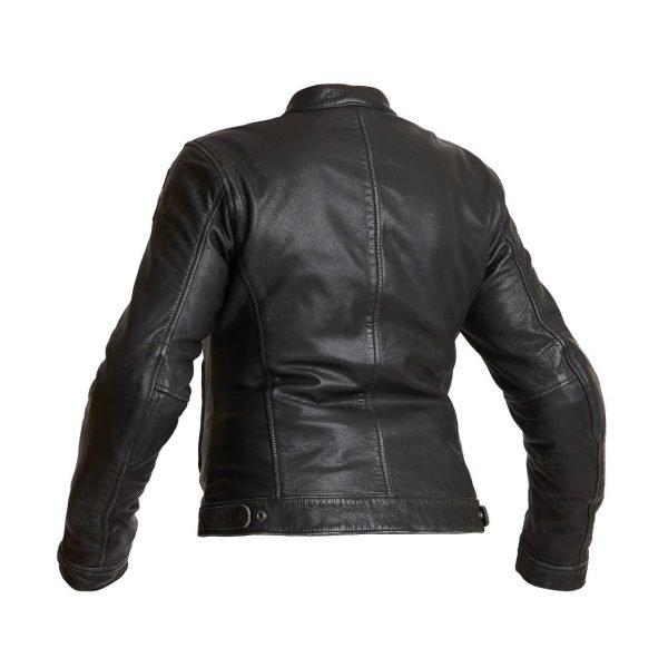 Halvarssons Orsa Woman Leather Jacket - Black colour, Back, CMG Shop, London