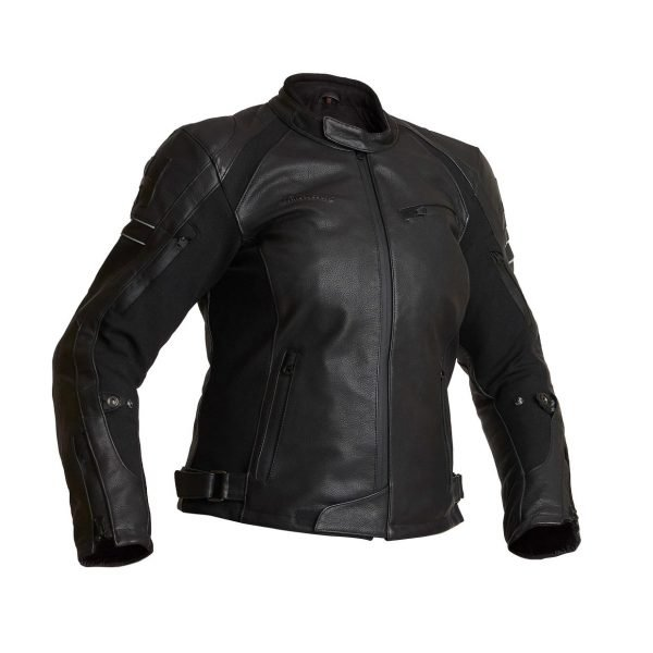 Halvarssons Risberg Woman Leather Jacket - Black colour, Motorcycles Clothing Shop