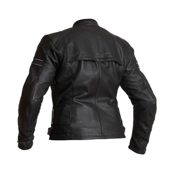 Halvarssons Risberg Woman Leather Jacket - Black colour, back view