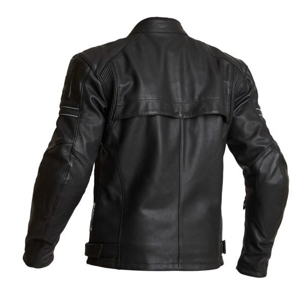 Halvarssons Selja Leather Jacket - Black colour, back, MCS, Chelsea, London, UK