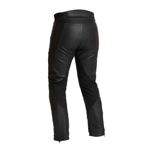 Halvarssons Oxberg Woman Leather Pants - Black colour, back