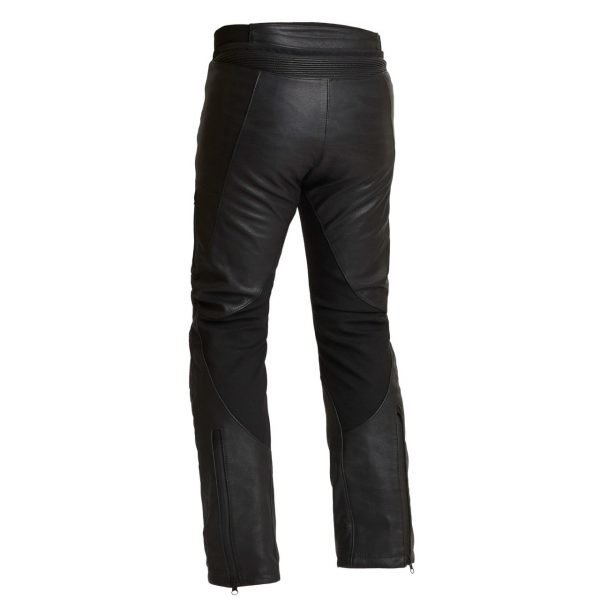 Halvarssons Rullbo Leather Pants - Black colour, back view
