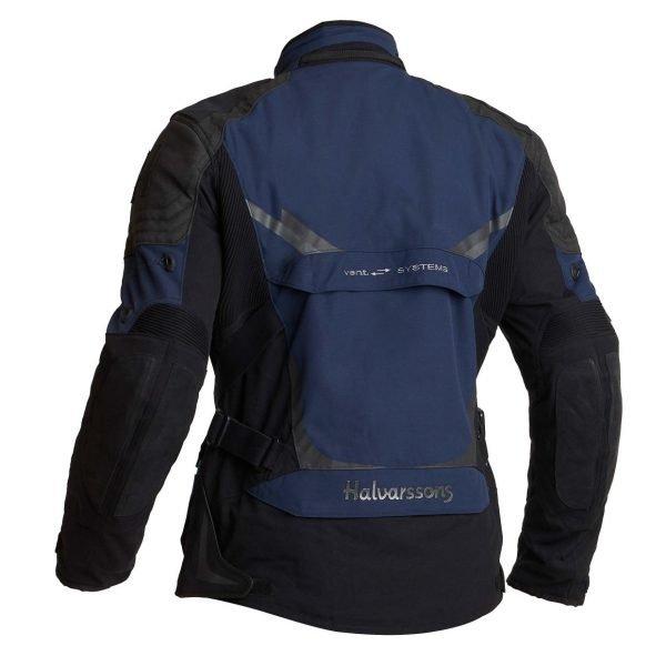 Halvarssons Mora Textile Jacket - Black/Blue colour, rear view, Ventilation Systems