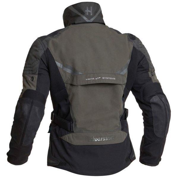Halvarssons Mora Textile Jacket - Black/Green colour with collar, MCS, UK