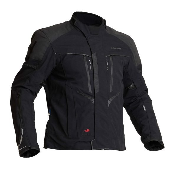 Halvarssons Vansbro Textile Jacket - Black colour, Motorcycle Clothing Shop
