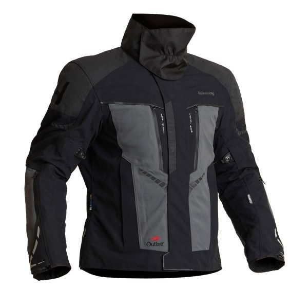 Halvarssons Vansbro Textile Jacket - Black/Grey colour with black collar