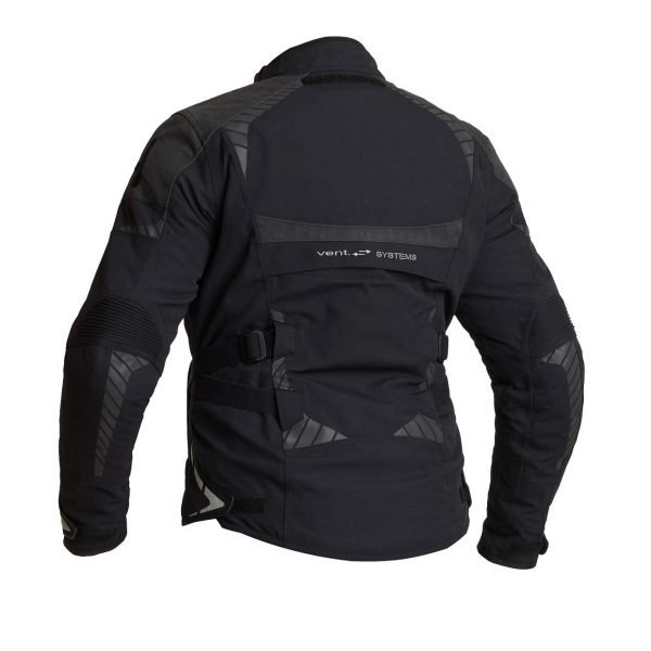Halvarssons Vimo Woman Textile Jacket - Black colour, back view