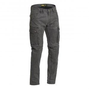 Lindstrands Luvos Cargo Pants - Grey colour, Motorbike Clothing Shop, Chelsea, London, UK