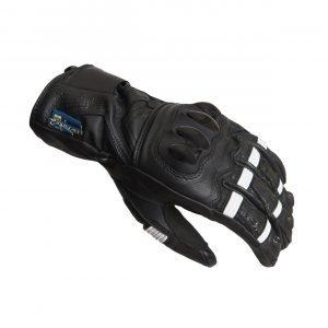 Lindstrands Backa Gloves - Black/White colour, CMG Shop, UK
