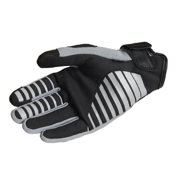 Lindstrands Eke Gloves - Black/Grey colour, palm, London, UK
