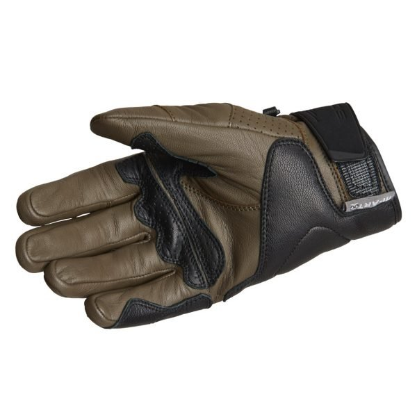 Lindstrands Holarna Gloves - Military Green colour, palm, Motorcycles Clothing Shop