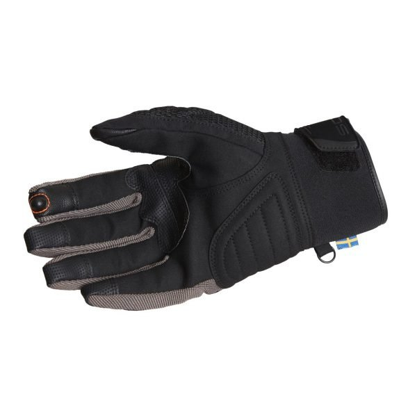 Lindstrands Nyhusen Gloves - Black/Grey colour, Palm, made in Sweden